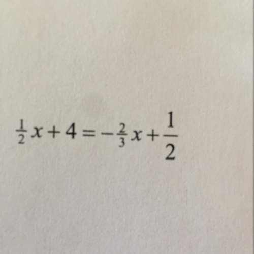 Solve for x. then check your solution