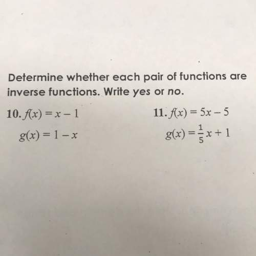 Determine whether each pair is a function