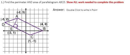 Find the perimeter and area of parallel...</a></div><div class=