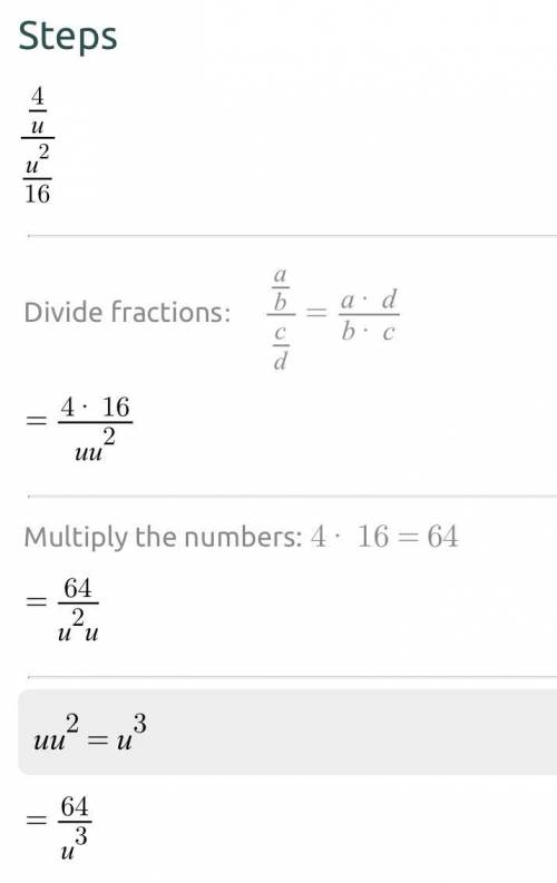Simplify these problems to  me understand on how to do the problems  3/4/9/x^2 4/u/u^2/16