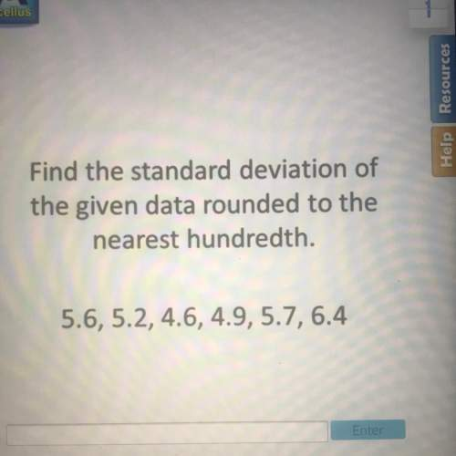 Me it is my last question and i don't want to get it wrong standard deviation