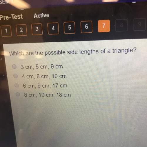 Which are the possible side lengths of a triangle?