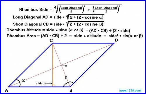 Find the angles of the rhombus if the ratio of the angles formed by diagonals and the sides of the r