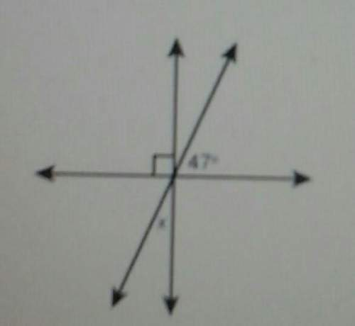 What is the measure of angle x? ​