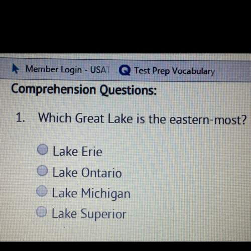 Which of the great lakes is the eastern-most