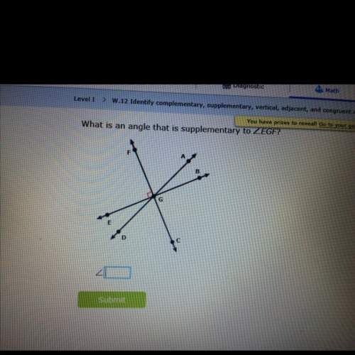 Which is an angle that is supplementary to