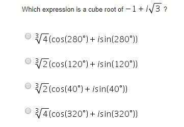 Which expression is a cube root of -1+i sqrt...</a></div><div class=