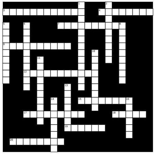 25 points with crossword puzzle
