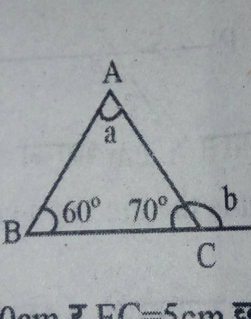 In the given figure, find the value of a and b.​...</a></div><div class=