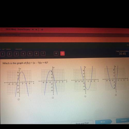 Which is the graph of f(x) = (x - 1)(x + 4)?...</a></div><div class=