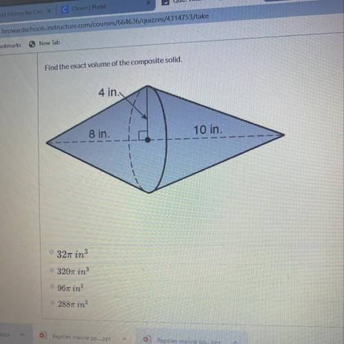 Find exact value the composite solid