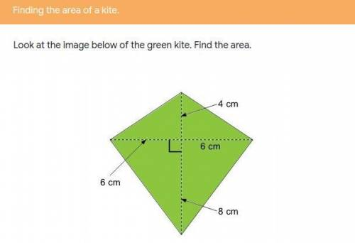 I need help finding the area of the kite...</a></div><div class=