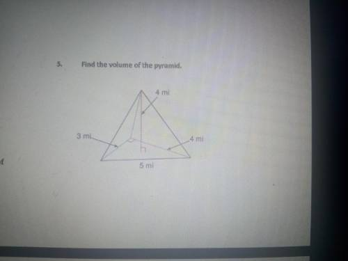 Find the volume of the pyramid. Show all...</a></div><div class=