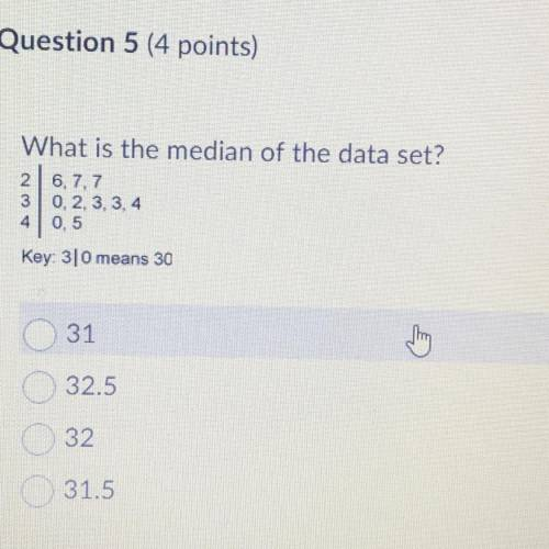 What is the median of the data set