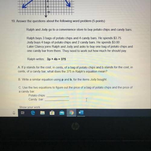 Help! Please show work this is due is 15 minute...</a></div><div class=